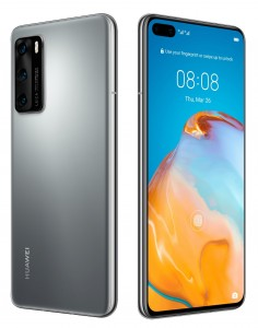 Huawei P40 in black and grey