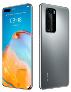 Huawei P40 Pro in black and silver