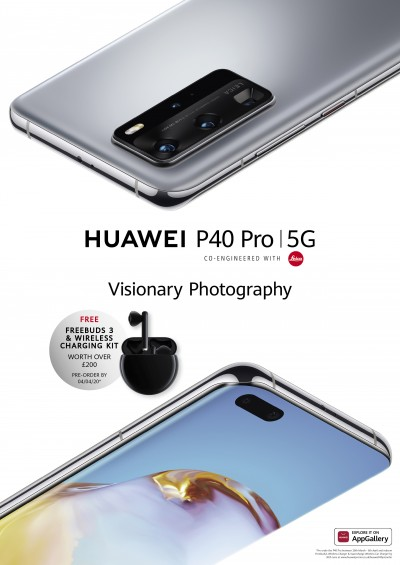 Huawei poster reveals the P40 Pro's launch date and pre-order offer