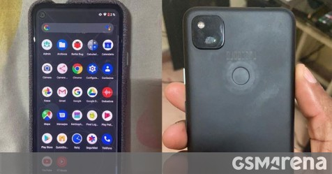 Google Pixel 4a photographed again, have a look at the punch hole and square camera bump