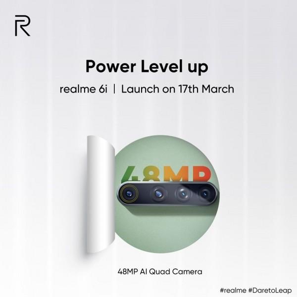 Realme 6i officially confirmed to sport 48MP quad camera