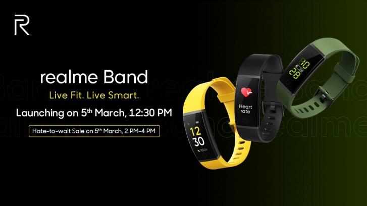 كشفت فرقة Realme Band عن مراقبة الموارد البشرية والإشعارات وعمر البطارية لمدة 9 أيام