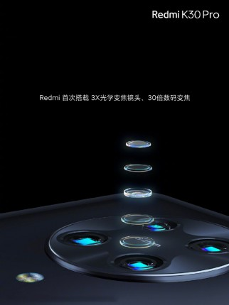 Redmi K30 Pro and K30 Pro Zoom version camera details