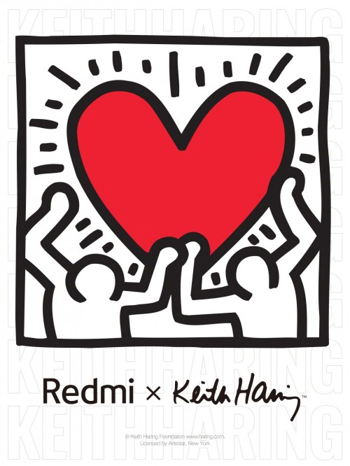Redmi x Keith Haring collaboration poster