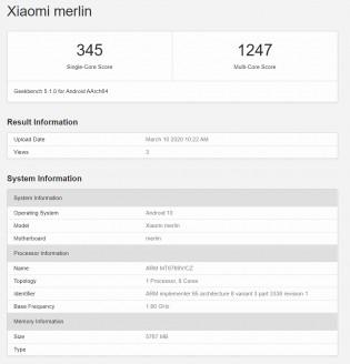 Geekbench v5.1: Xiaomi Redmi Not 9 (