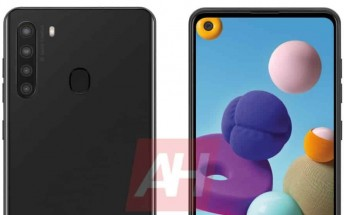 Samsung Galaxy A21 surfaces with an Infinity-O display and quad rear cameras