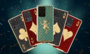 Caviar decks the Samsung Galaxy S20 Ultra in gold, playing cards