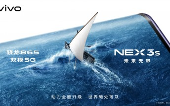 vivo NEX 3s 5G officially confirmed to pack Snapdragon 865 SoC and triple rear camera