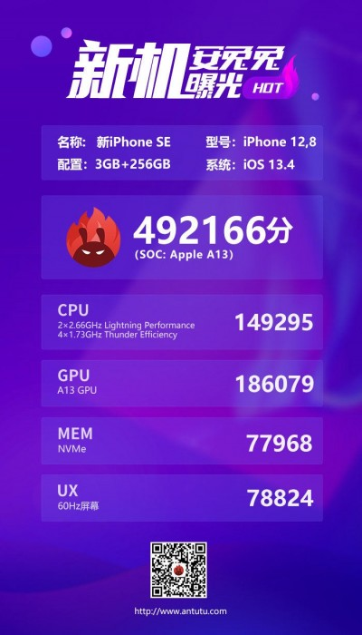 iPhone SE (2020) appears on AnTuTu, reveals underclocked chipset