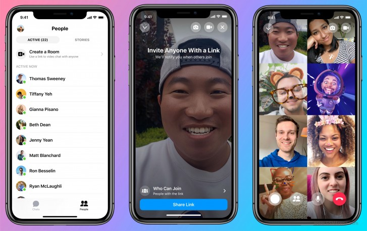 Facebook launches Messenger Rooms for video chats with up to 50 people
