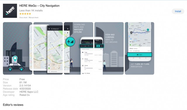 Here WeGo Maps on Huawei App Gallery