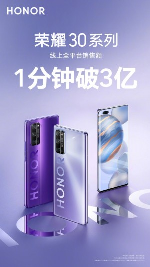 Over 50,000 Honor 30 smartphones sold in first flash sale