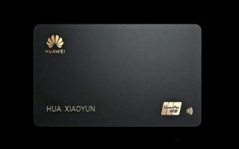 Huawei card unveiled, because Apple has one