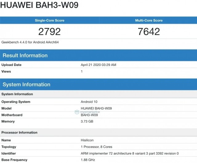 GeekBench leak