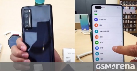 Huawei nova 7 Pro found in store, curved OLED screen and quad camera with periscope lens