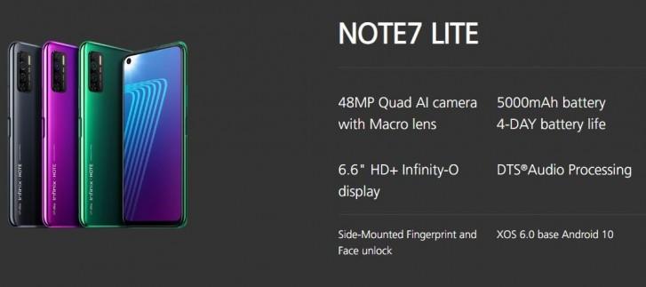 مميزات وعيوب هاتف Infinix Note 7 Lite