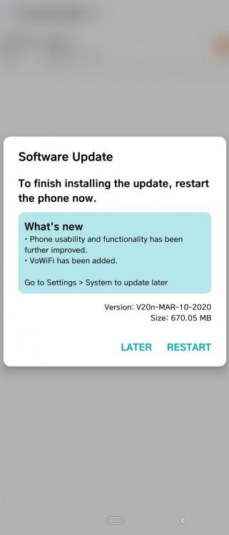 LG G7 ThinQ update