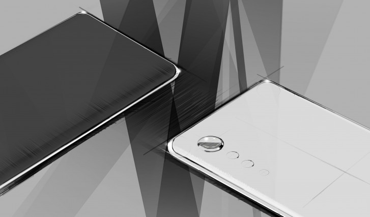 LG teases new phone design with curved edges and 'raindrop' cameras