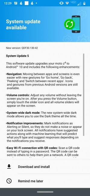 تطرح Verizon الإصدار Android 10 لـ Moto Z4