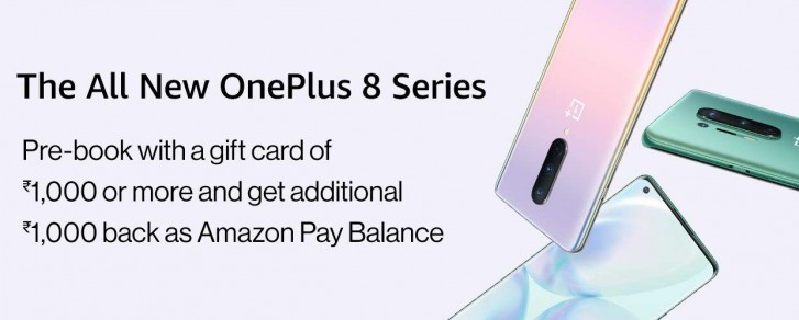 OnePlus 8, OnePlus 8 Pro arriving on sale in India on May 11  Amazon Is Taking Oneplus 8 Series Pre-orders In India & sales Will Start On May 11 gsmarena 002