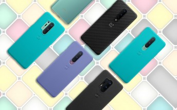 OnePlus 8 and 8 Pro cases show new colors for the Sandstone finish