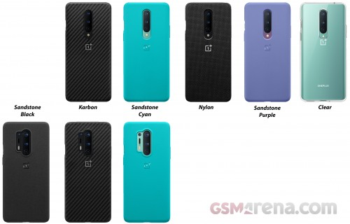 OnePlus 8 and 8 Pro cases, including new colors for the sandstone texture