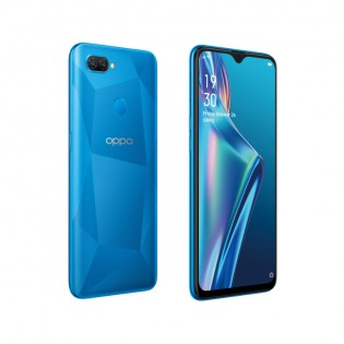 Oppo A12 in Black and Blue