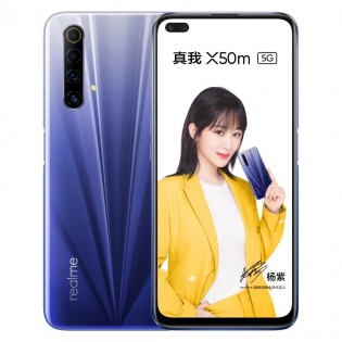 Realme X50m in Starry Blue color