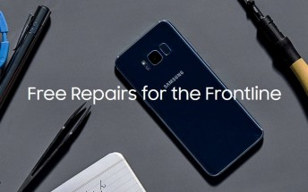 Samsung is offering free phone repairs to US frontline workers and healthcare professionals