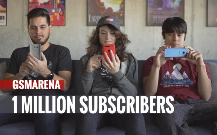 Our YouTube channel reaches 1 million subscribers