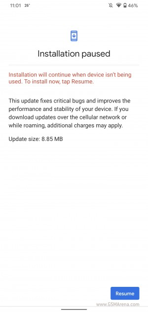 Update arriving on Google Pixel 4 XL