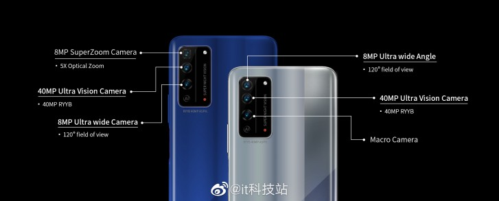 Honor 10X 5G camera details leak, X10 Pro model will add a periscope camera