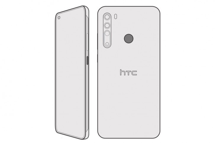 Previously rumored design of the HTC Desire 20 Pro