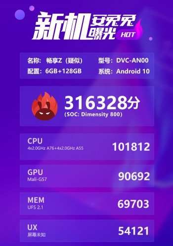 Huawei Enjoy Z appears in AnTuTu benchmark