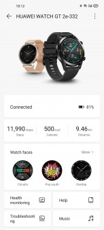 Huawei Health interface