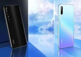Huawei Y9s in Midnight Black and Breathing Crystal