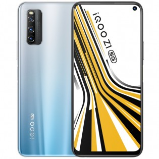 iQOO Z1 in Galaxy Silver color