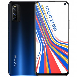 iQOO Z1 in Space Blue color