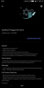 """Stable Android 10 update for the OnePlus 5 and 5G <a href=""""https://forums.oneplus.com/threads/oxygenos-android-10-open-beta-3-for-oneplus-5-5t.1228619/page-44#post-21644163"""" target=""""_blank"""" rel=""""noopener noreferrer"""">(image source)</a>"""