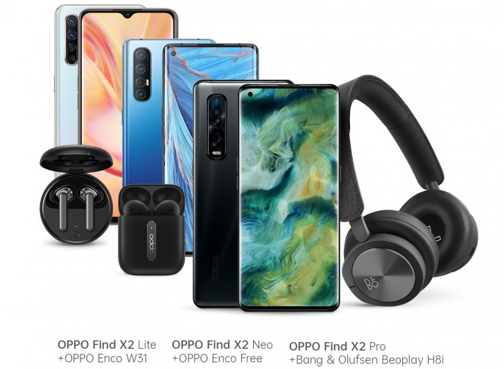 Oppo Find X2 Pro, Neo and Lite launch in Germany with Bluetooth headphones as early bird bonus