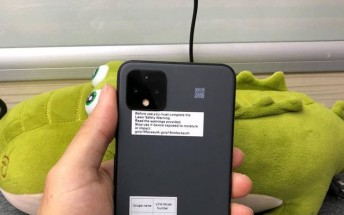 Pixel 4 XL prototype with a gray paint job surfaces - a color that was never released