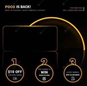 Promo campaign for the Poco F2 Pro