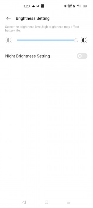 Adjust display brightness from the Realme Link app
