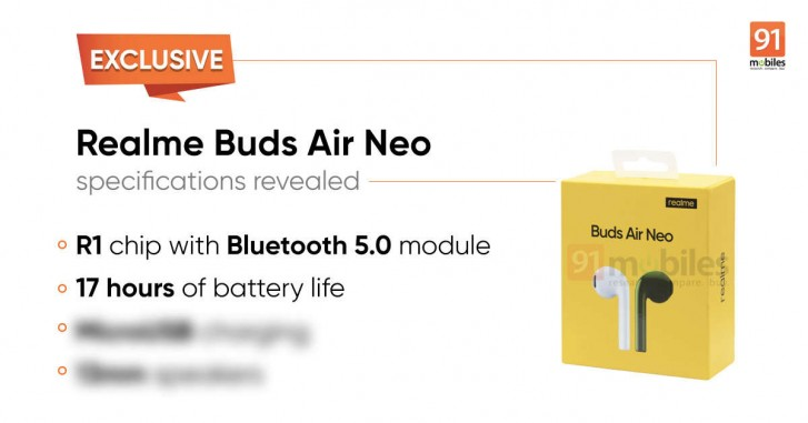 Realme Buds Air Neo key features and renders leak