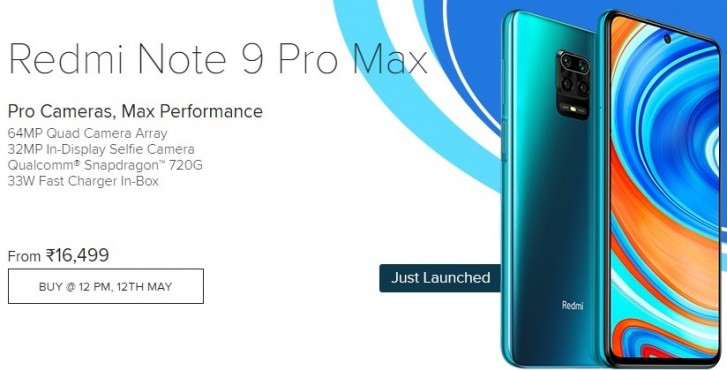 Redmi Note 9 Pro Max Sales Begin On May 12 In India Gsmarena Com
