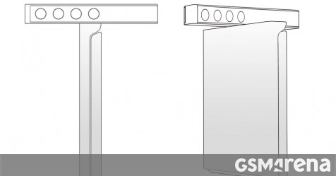 New Xiaomi patent shows a clamshell folding phone with rotating camera bar