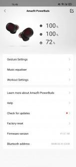 Amazfit app screenshots