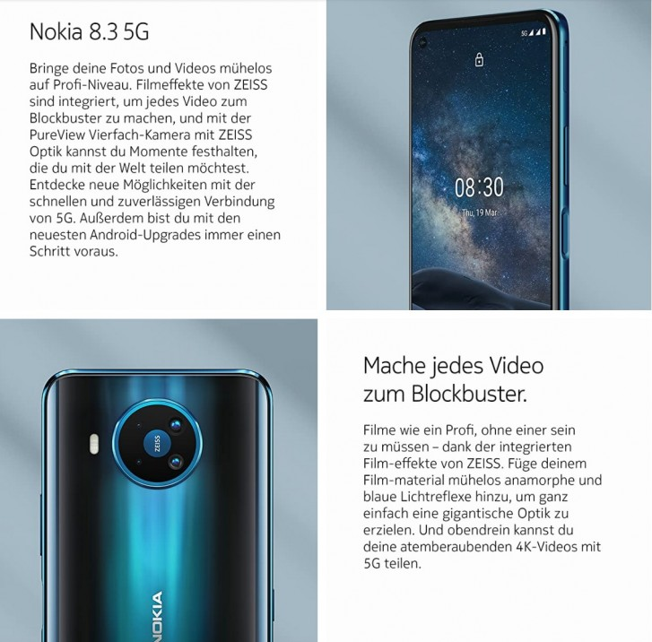 Nokia 8.3 5G to launch soon appears in Amazon Germany listing