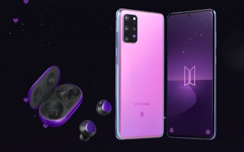 Galaxy S20+ 5G BTS limited edition bundle sells out in an hour in South Korea