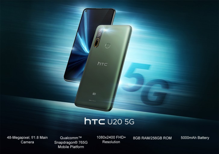 HTC U20 5G announced as the company's first 5G phone alongside Desire 20 Pro